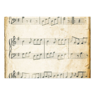 Vintage Music Sheet Business Cards