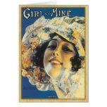 Vintage Music Sheet - Girl of Mine Card