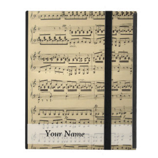 Vintage Music Sheet iPad Case