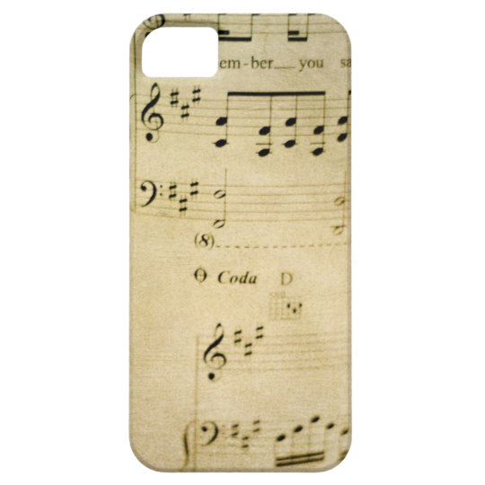 Vintage Music Sheet iPhone 5 Case