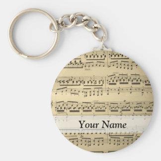 Vintage Music Sheet Keychains