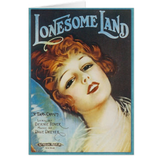 Vintage Music Sheet - Lonesome Land Card
