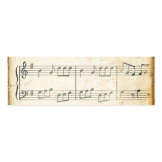 Vintage Music Sheet Mini Business Card
