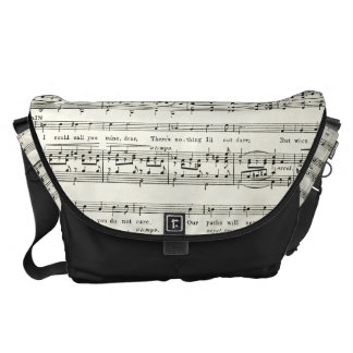 VINTAGE music sheet,musical Messenger Bag