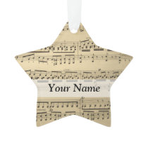 Vintage Music Sheet Ornament