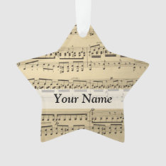 Vintage Music Sheet Ornament at Zazzle