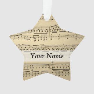 Vintage Music Sheet Ornament