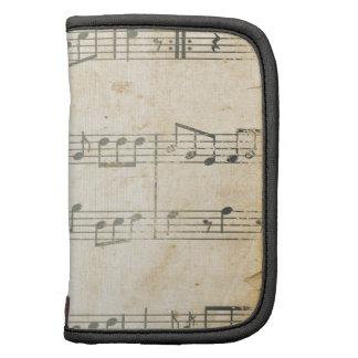Vintage Music Sheet Folio Planner
