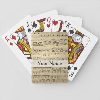 Vintage Music Sheet Playing Cards