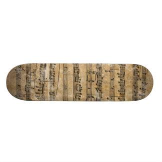 Vintage Music Sheet Skateboard Deck