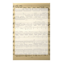 Vintage Music Sheet Stationery