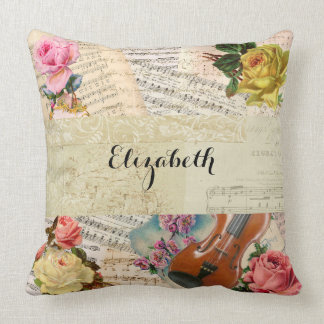 Throw Pillow Arrangement : Vintage Floral Pillows - Decorative & Throw Pillows Zazzle