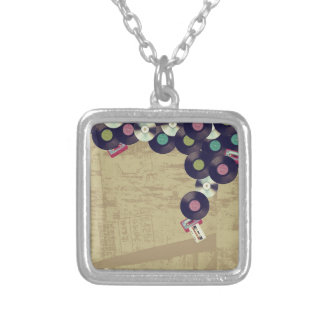 Vintage Music Silver Plated Necklace