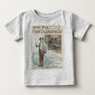 Vintage Music Song Sheet Poor Callaghan Chorus Baby T-Shirt
