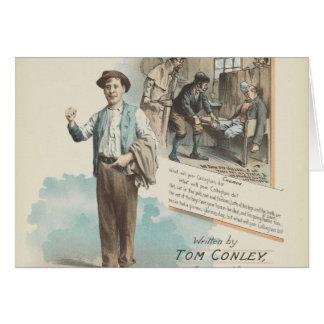 Vintage Music Song Sheet Poor Callaghan Chorus Card