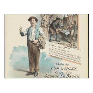 Vintage Music Song Sheet Poor Callaghan Chorus Postcard