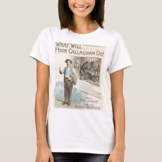 Vintage Music Song Sheet Poor Callaghan Chorus T-Shirt