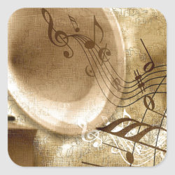 Vintage Music Sticker