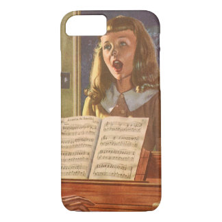 Vintage Music Teacher Teaching Students to Sing iPhone 8/7 Case