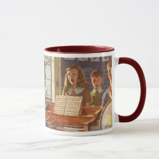 Vintage Music Teacher Teaching Students to Sing Mug