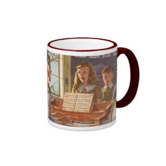 Vintage Music Teacher Teaching Students to Sing Coffee Mugs