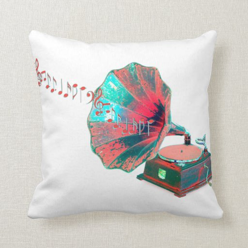 No Throw Pillows On The Bed Song : Vintage Music Throw Pillow Zazzle