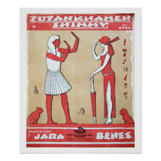 Vintage music - Tutankhamen Shimmy Print
