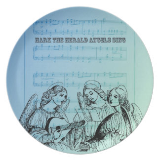 Vintage Musical Angels Dinner Plate