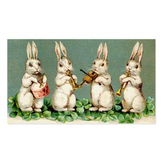 Vintage Musical Bunnies Business Card