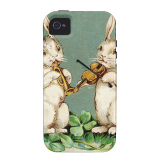Vintage Musical Bunnies iPhone 4/4S Case