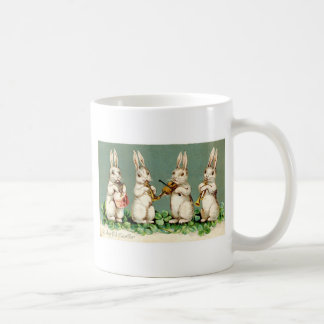 Vintage Musical Bunnies Coffee Mug