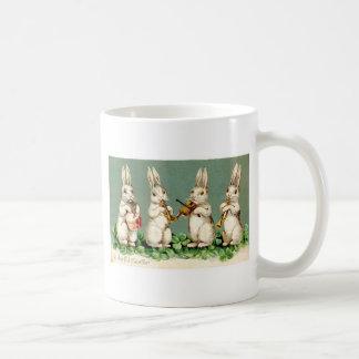 Vintage Musical Bunnies Coffee Mug