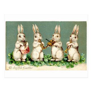 Vintage Musical Bunnies Post Card