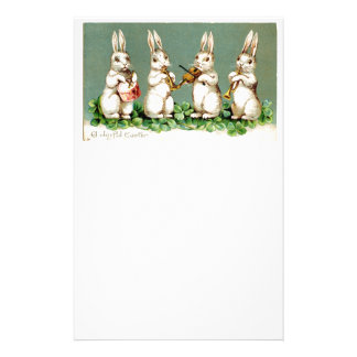 Vintage Musical Bunnies Stationery