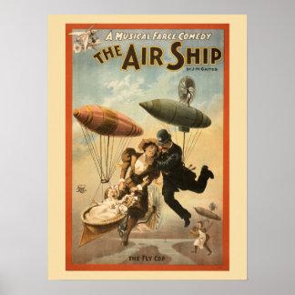 Vintage Musical Comedy The Air Ship Print