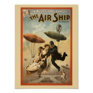 Vintage Musical Comedy The Air Ship small Poster