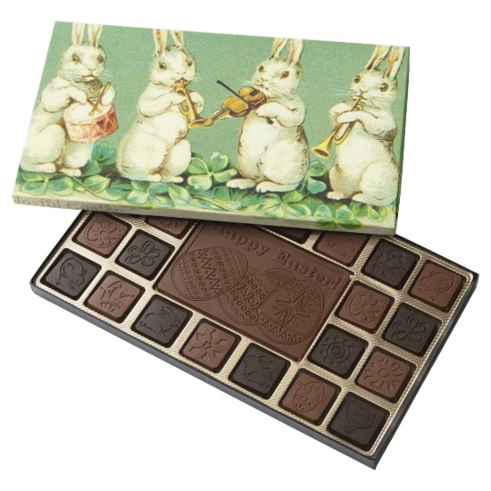 Vintage Musical Easter bunnies 45 Piece Box Of Chocolates