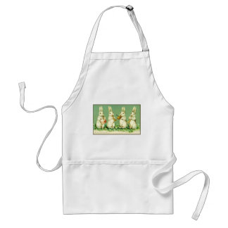 Vintage Musical Easter Bunnies Adult Apron