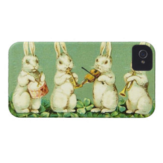 Vintage Musical Easter Bunnies Case-Mate iPhone 4 Case