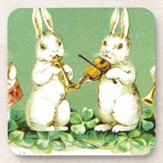 Vintage Musical Easter Bunnies Coaster