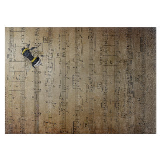 Vintage Musical Honey Bee Cutting Board