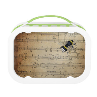 Vintage Musical Honey Bee Lunch Box