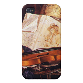 Vintage Musical Instruments Painting iPhone Cases