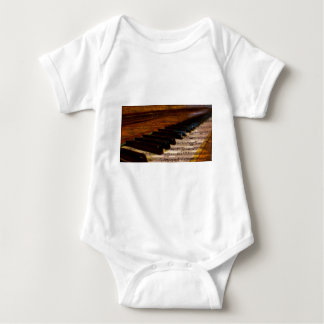 Vintage Musical Notes and Piano Baby Bodysuit