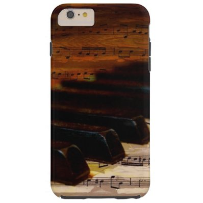 Vintage Musical Notes and Piano Tough iPhone 6 Plus Case