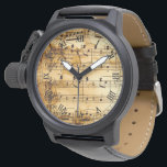 "vintage musical notes wristwatch<br><div class=""desc"">vintage musical notes</div>"