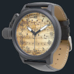 "vintage musical notes wristwatch<br><div class=""desc"">vintage musical notes</div>"