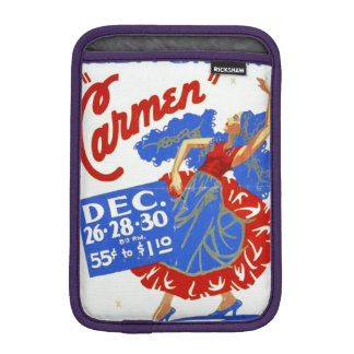 "Vintage Musical Theatre ""Carmen"" WPA Poster iPad Mini Sleeve"