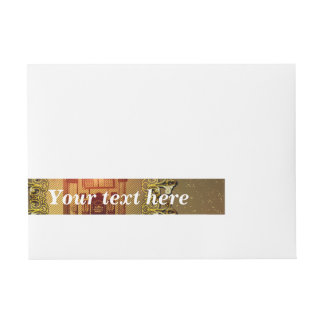 Vintage, musicbox with light effect wraparound address label