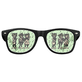 Vintage Musician Black Cats Music Notes Party Shades